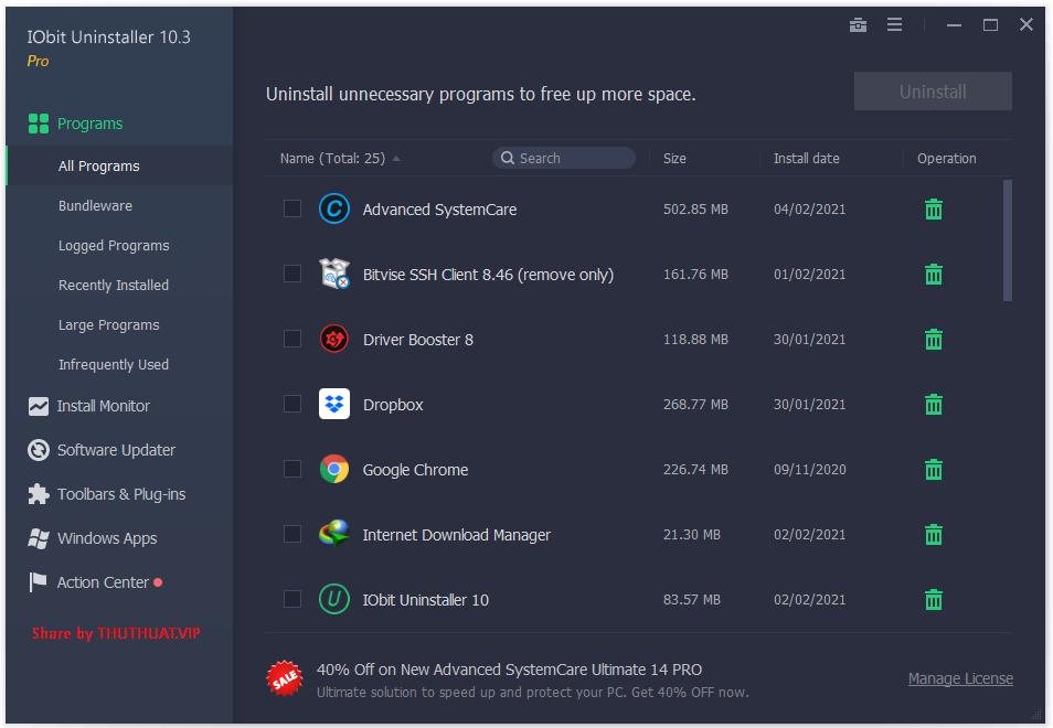 Iobit Uninstaller Pro 10.3