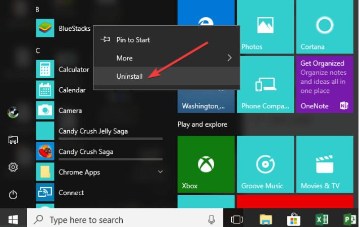 Cách chặn gỡ ứng dụng khỏi menu Start trên Windows 10