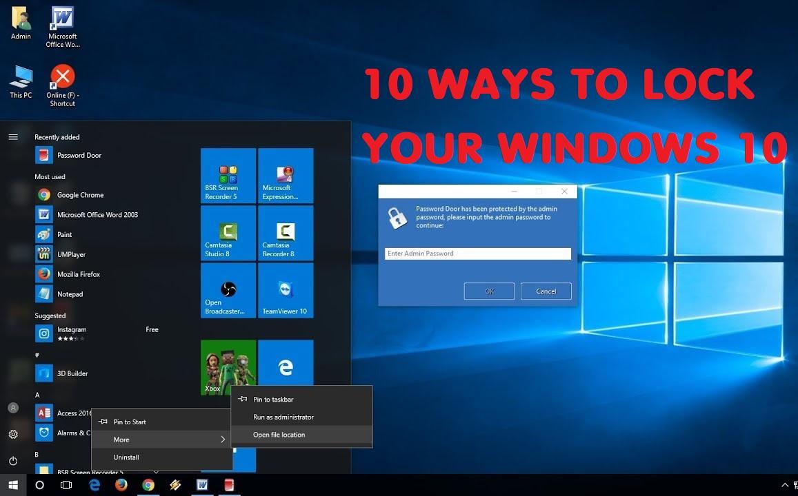 Hướng dẫn 10 cách khóa máy tính chạy Windows 10