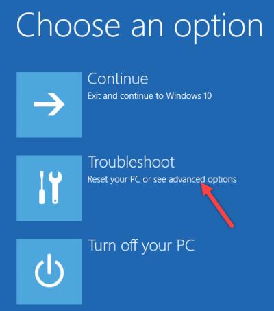 advanced options win10 settings