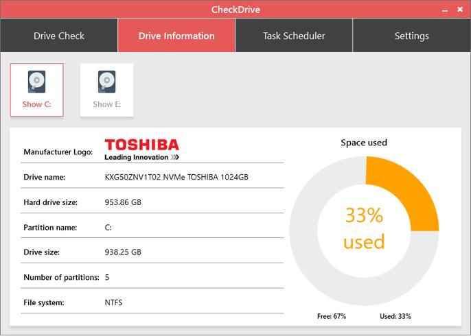 Miễn phí phần mềm kiểm tra ổ cứng Abelssoft CheckDrive 2020