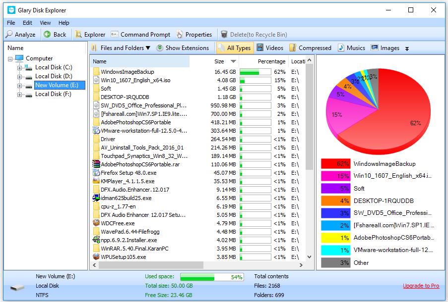 Glary Disk Explorer