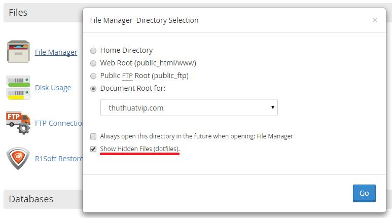 Không tìm thấy file htaccess trong Cpanel và cách hiển thị