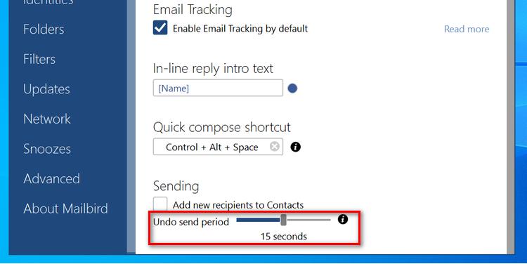 Cách thu hồi một email đã gửi trong Mailbird
