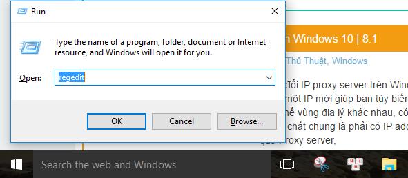 Regedit Windows 10