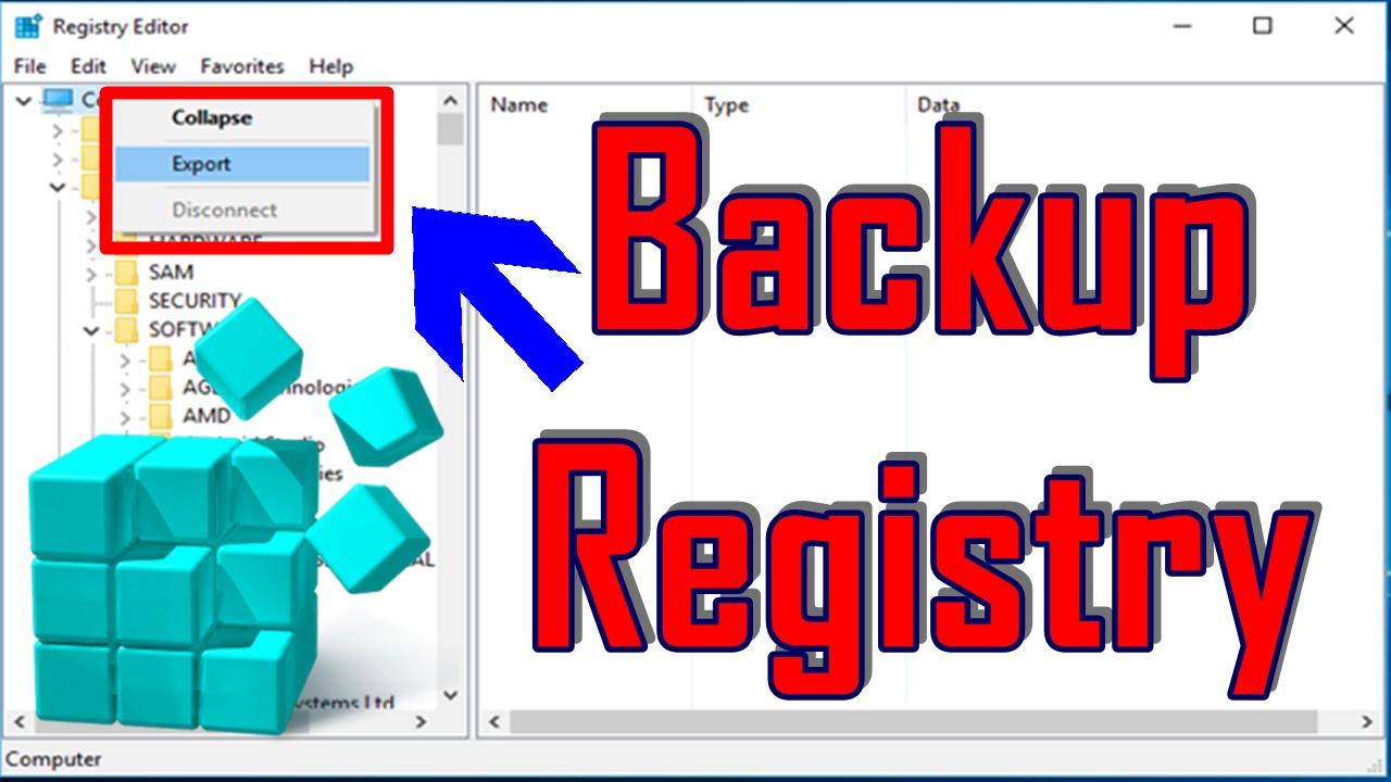 Sao Lưu Registry Trên Windows 10