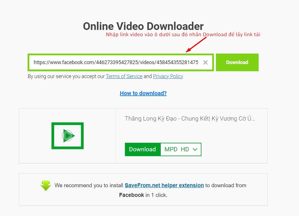 Tải Về Video Trên Internet