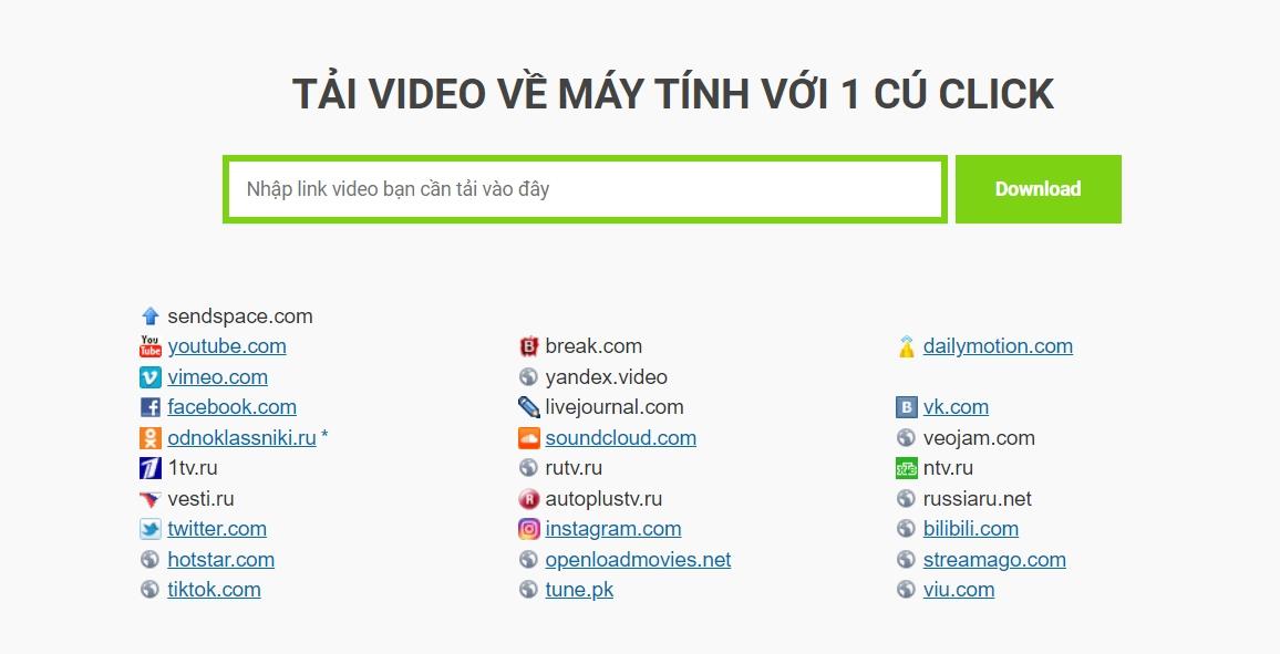 Cách tải video từ Youtube, Facebook, Tiktok, Vimeo với 1 cú click