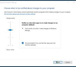 Chức năng UAC trên Windows có tác dụng gì và cách bật tắt nó?