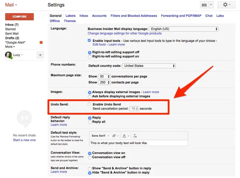 Cách thu hồi một email đã gửi trong Gmail