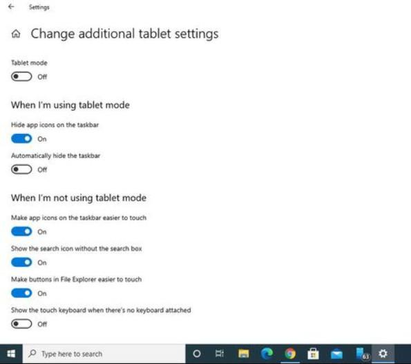 Windows 10 Tablet Mode 4
