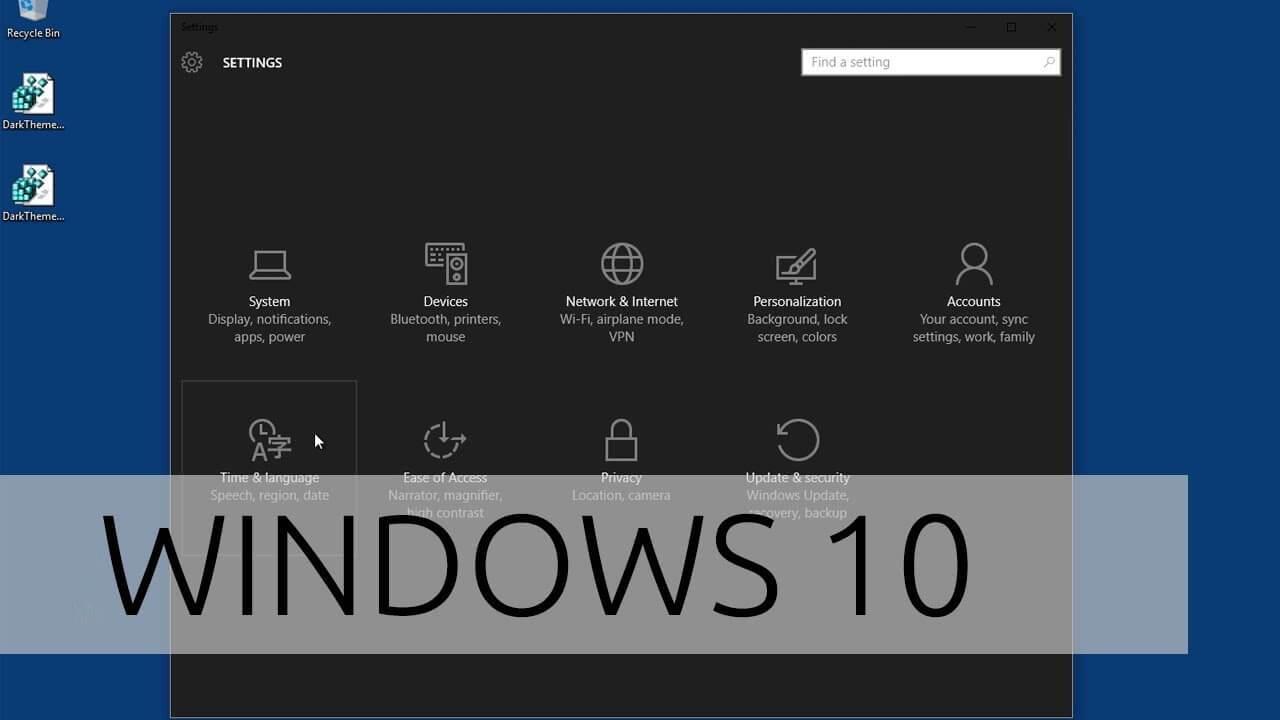 Cách bật chế độ tối máy tính Windows 10