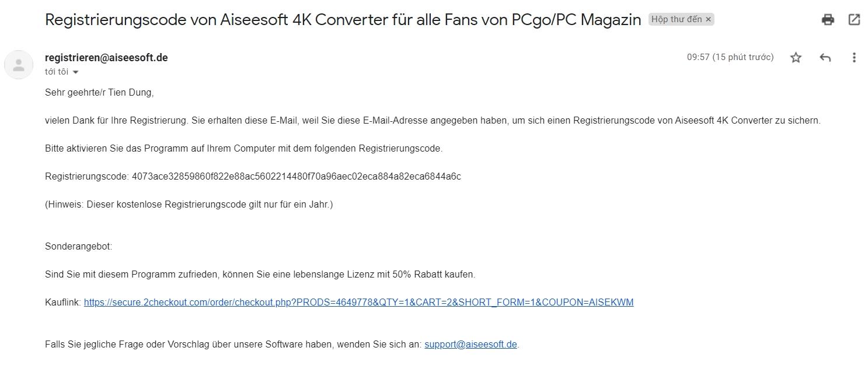 key phần mềm aiseesoft 4k converter