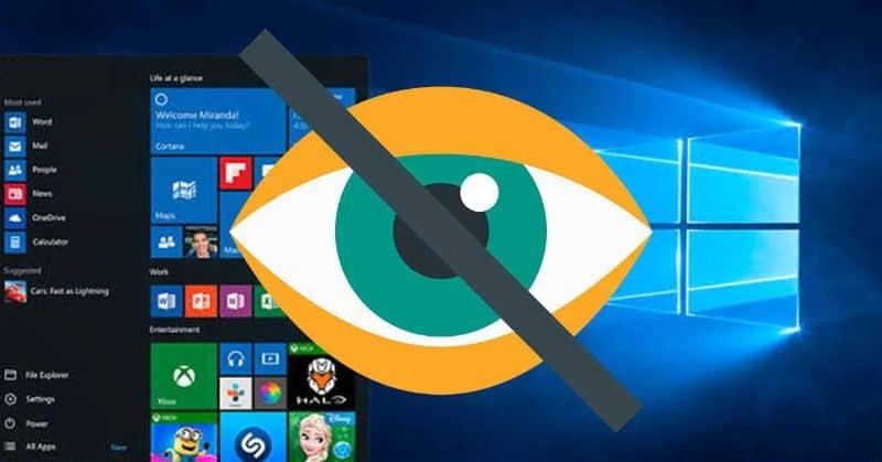 Cách ẩn danh sách, giấu ứng dụng trên máy tính Windows 10