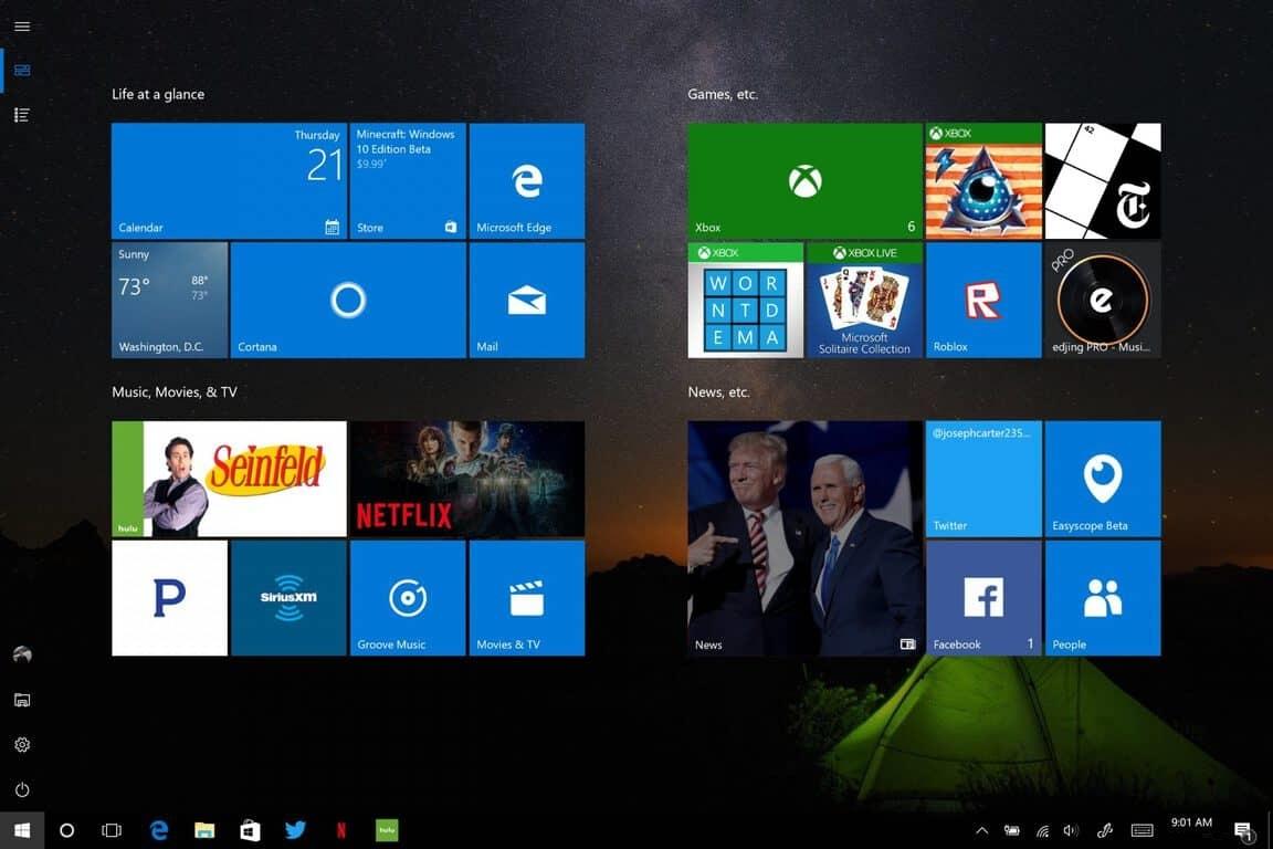 Cách bật hoặc tắt menu Start toàn màn hình trên Windows 10