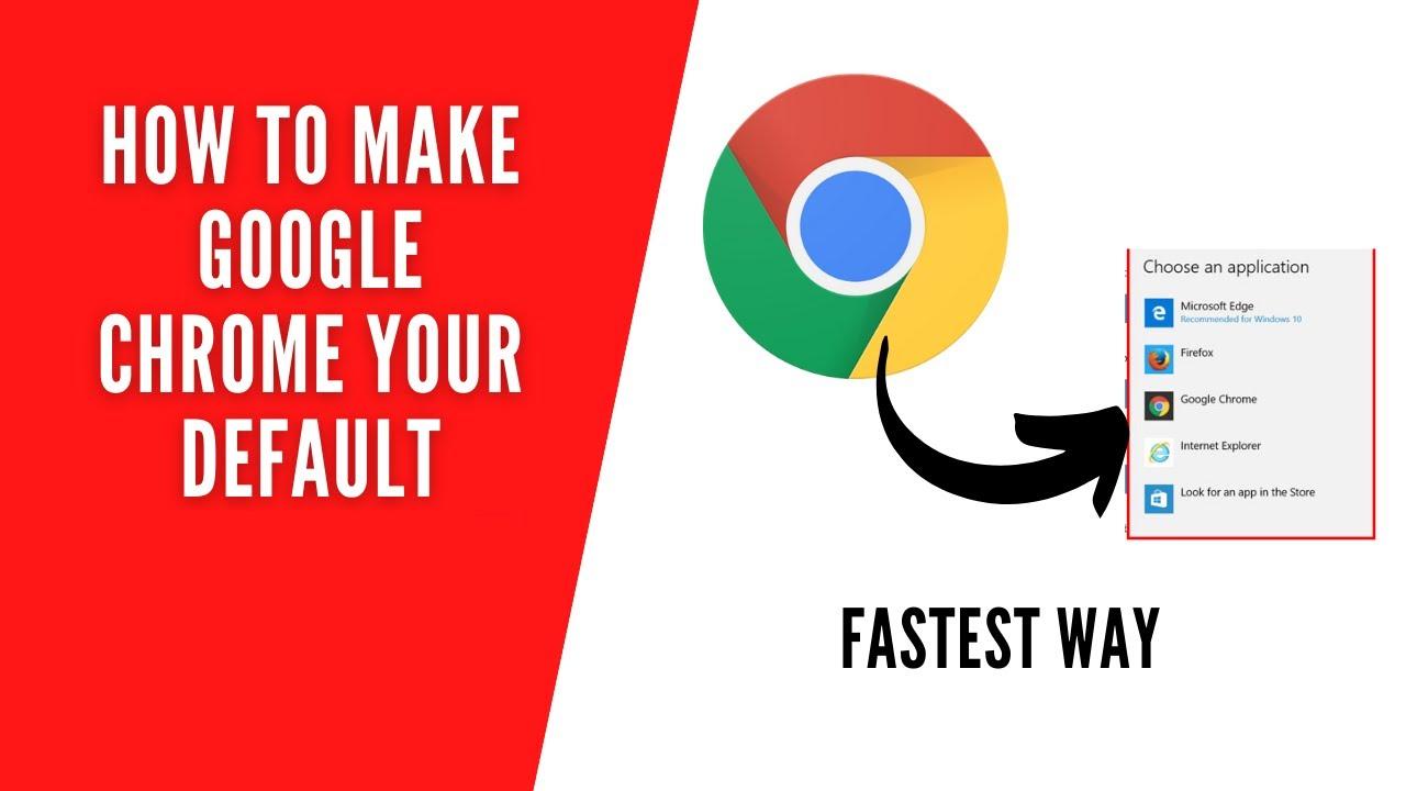 Cách cài đặt Chrome làm trình duyệt mặc định