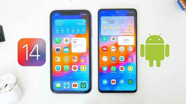 Trải nghiệm giao diện iOS 14 cho điện thoại Android