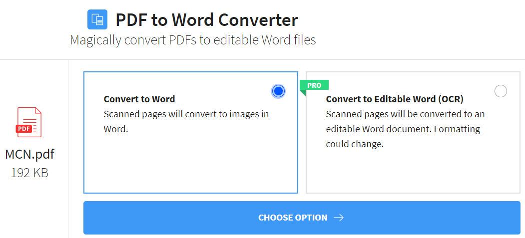 pdf to word converter small pdf