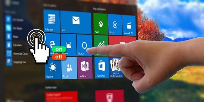 Cách tắt màn hình cảm ứng máy tính Windows 10