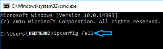 2 ip config all command windows computer