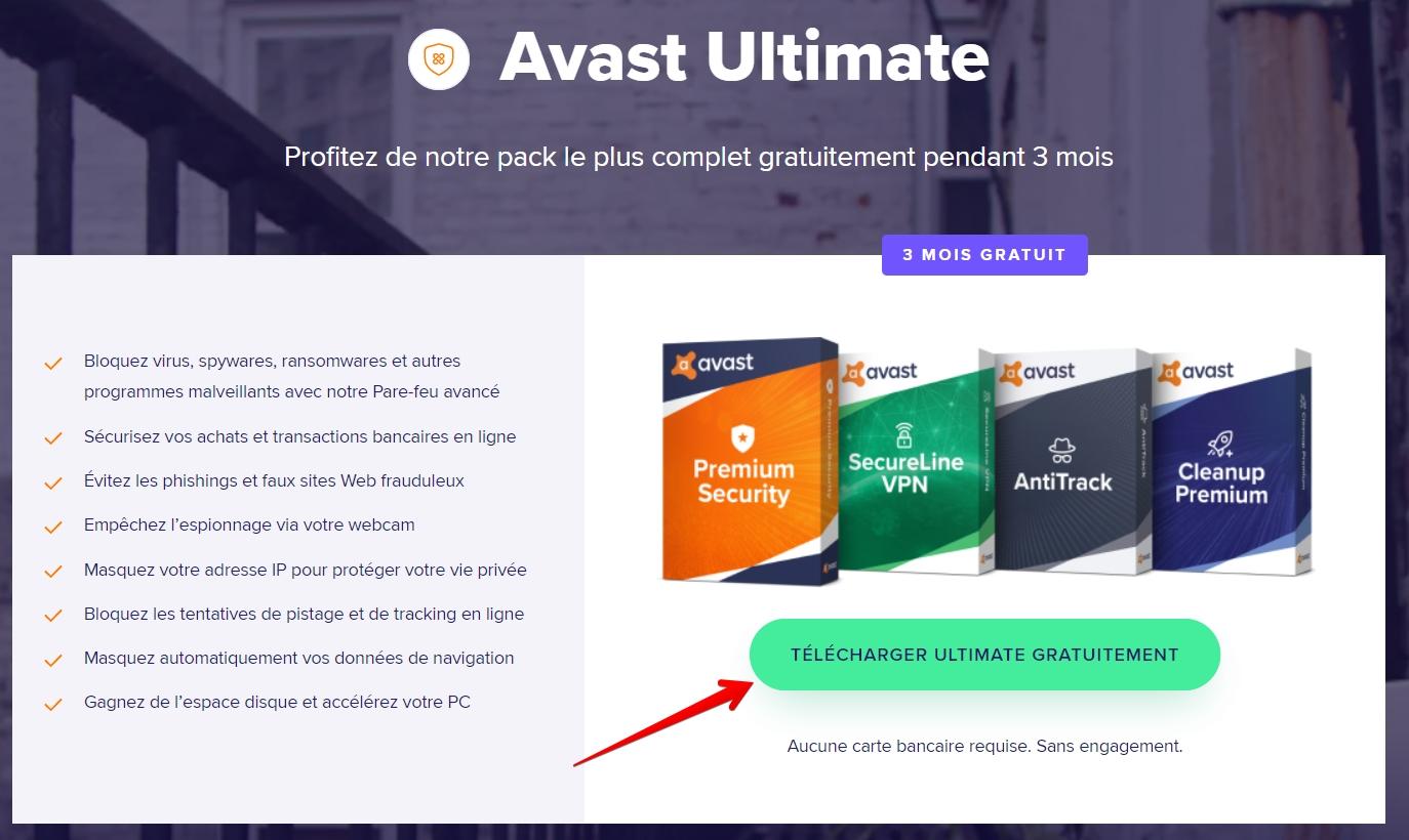 avast ultimate télécharger gratuitement le pack