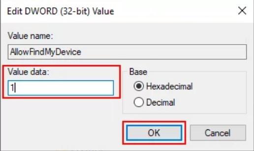 bat find my device win10 7