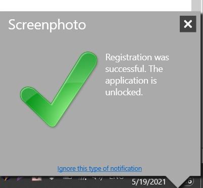 Đăng ký thành công abelssoft screenphoto