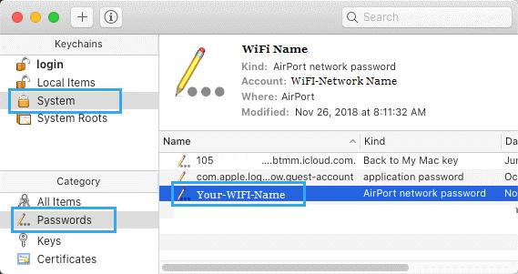 huong dan xem mat khau wifi tren mac 2