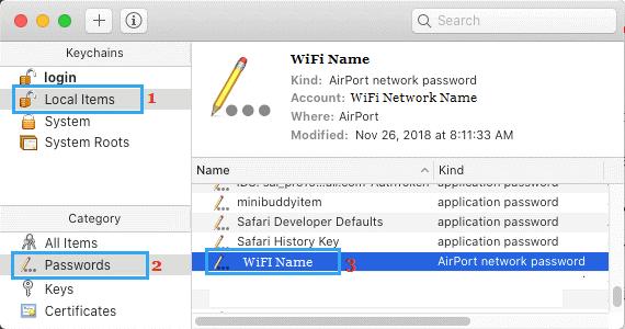 huong dan xem mat khau wifi tren mac 8
