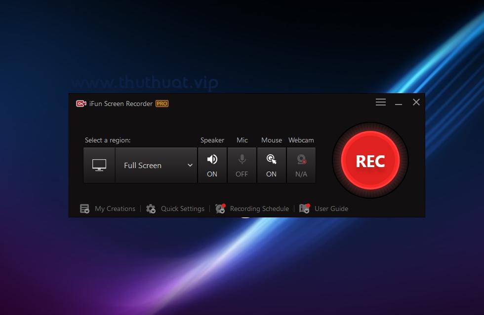 Quay màn hình với phần mềm iFun Screen Recorder Pro