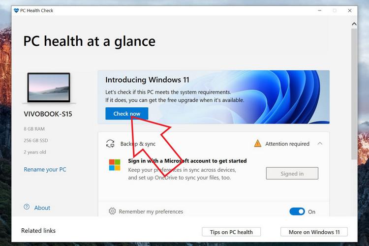 Làm sao để biết máy tính của bạn chạy được Windows 11?