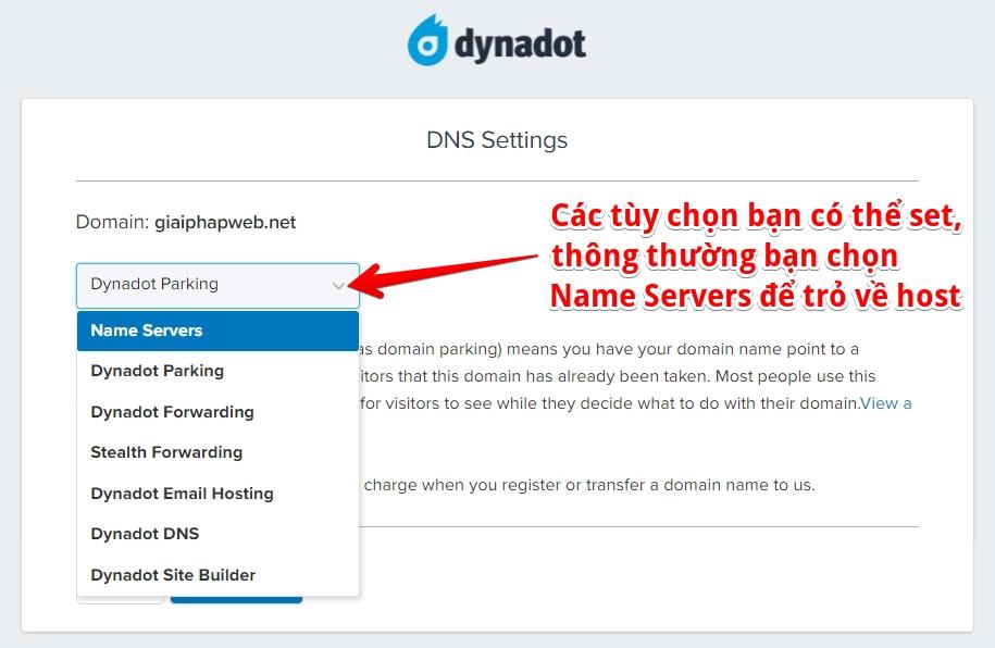 cập nhật dns trên dynadot 2021