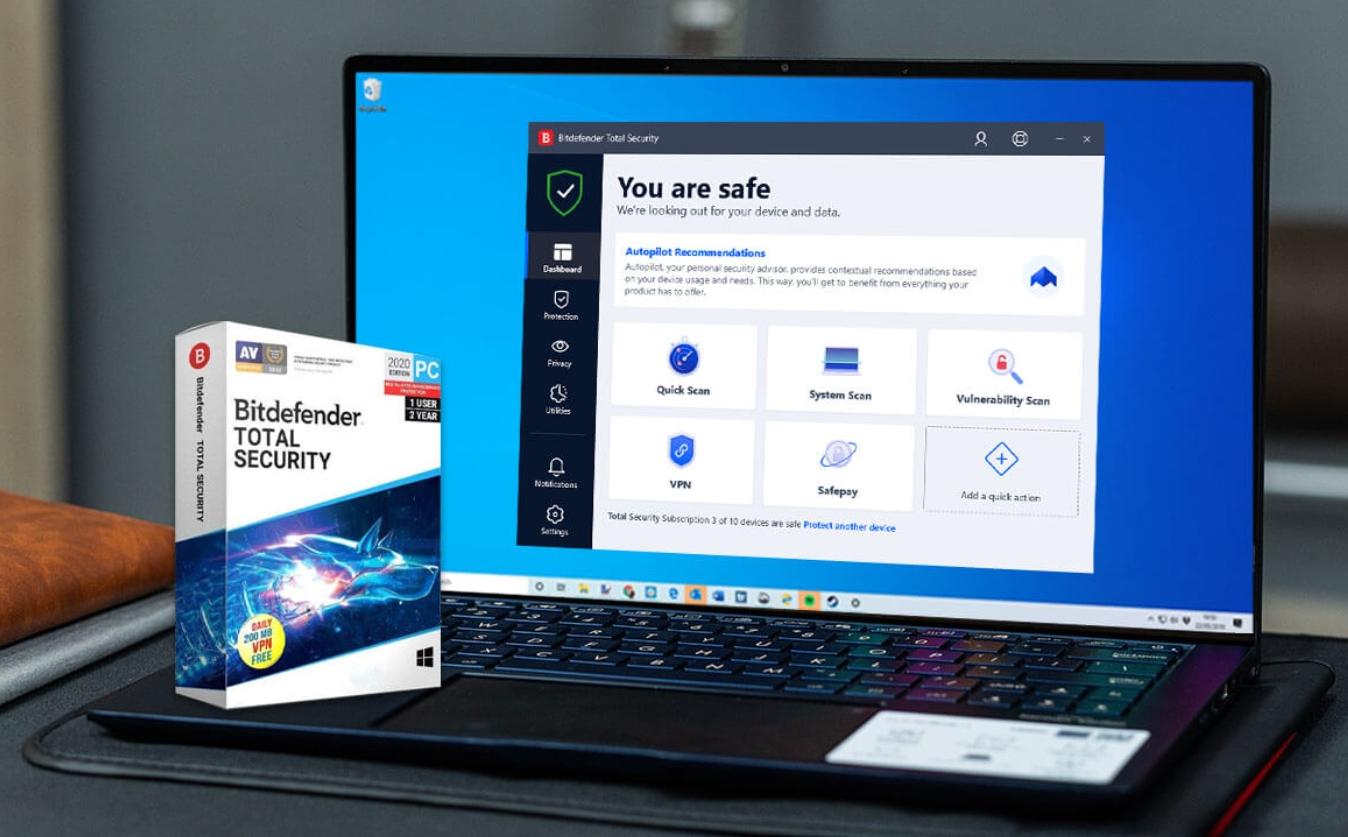 Miễn phí 6 tháng phần mềm diệt virus Bitdefender Total Security 2021